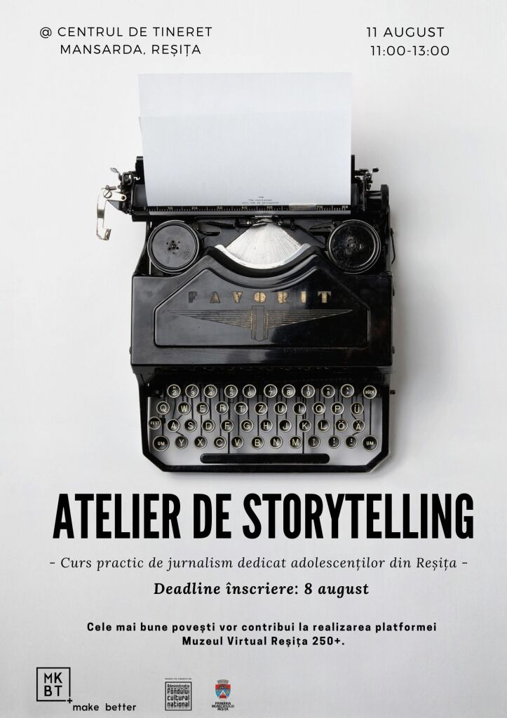 Afiș_atelier storytelling Reșița